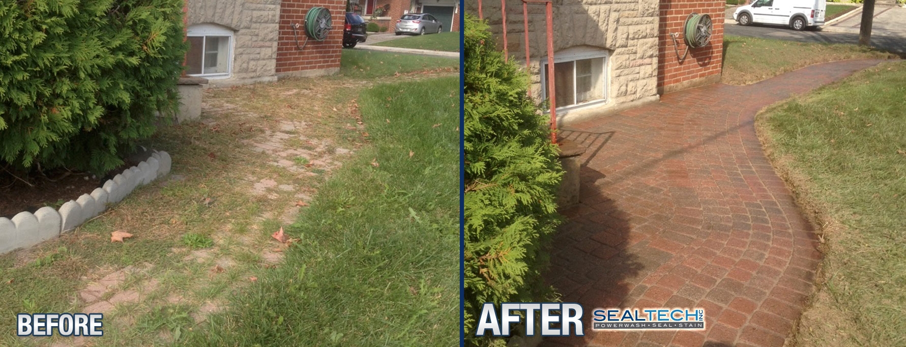Interlock-weed-removal-toronto-before-after-