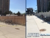 Fence-painting-Weston-rd-go-station-before-after