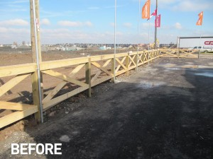 new-model-home-parking-lot-fence-staining
