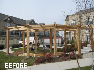 pergola-staining-before
